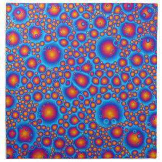 Blue And Orange Bubbles Napkin
