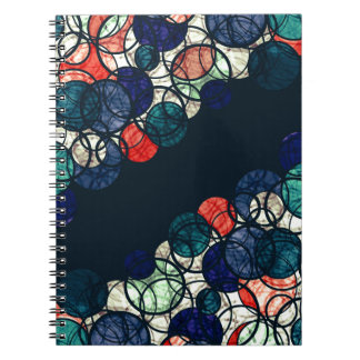 Blue and orange bubbles note books