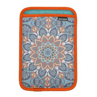 Blue and Orange Floral Mandala iPad Mini Sleeve