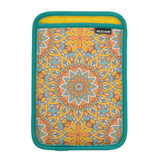 Blue and Orange Floral Mandala iPad Mini Sleeve