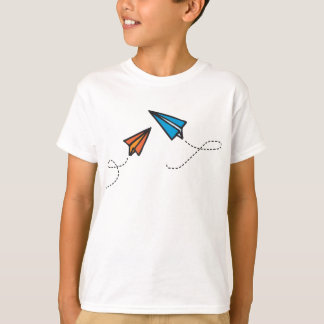 Blue and Orange Paperplanes T-Shirt