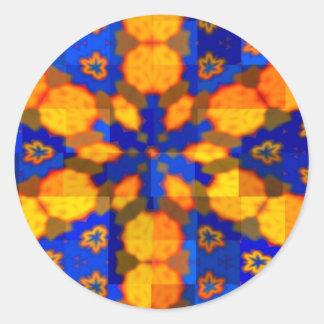 Blue and Orange Star Sticker