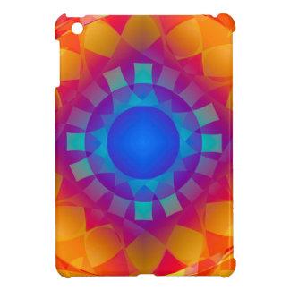 Blue and Orange Sun Pattern iPad Mini Case