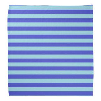 Blue and Pastel Blue Stripes Bandanas