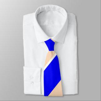 Blue and Peach Broad Regimental Stripe Tie