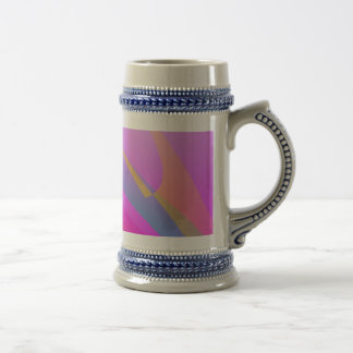 Blue and Pink Abstract Print Art Coffee Mugs