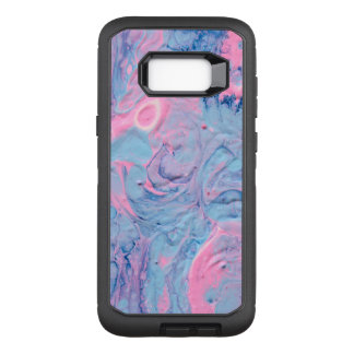 Blue and Pink Acrylic Pour Design OtterBox Defender Samsung Galaxy S8+ Case
