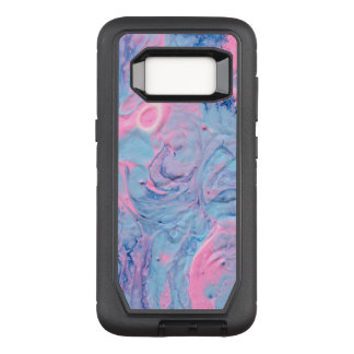 Blue and Pink Acrylic Pour Design OtterBox Defender Samsung Galaxy S8 Case
