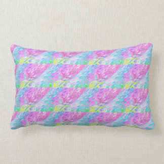 Blue and Pink art colour Cushion