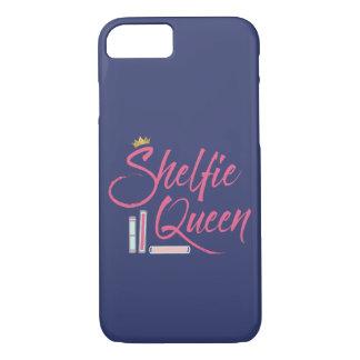 Blue and Pink Book Lover Shelfie Queen iPhone 8/7 Case
