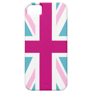 Blue and Pink British Flag iPhone 5 Covers