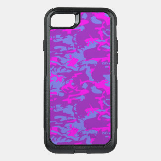 Blue and Pink Camo OtterBox Commuter iPhone 8/7 Case