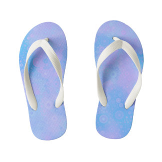 Blue and Pink Circles Kid's Flip Flops