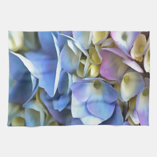 Blue and Pink Hydrangea Flowers Kitchen Towel