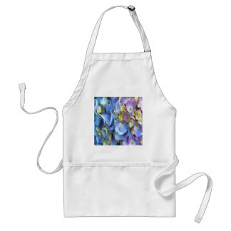 Blue and Pink Hydrangea Flowers Standard Apron