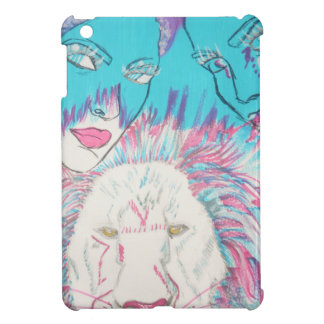 Blue and Pink Lions iPad Mini Covers