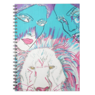 Blue and Pink Lions Notebook