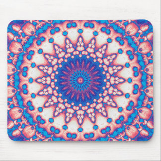 Blue And Pink Mandala Mouse Pad