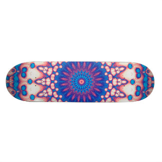 Blue And Pink Mandala Skateboard Deck