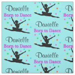 BLUE AND PINK PERSONALIZED MODERN DANCER FABRIC
