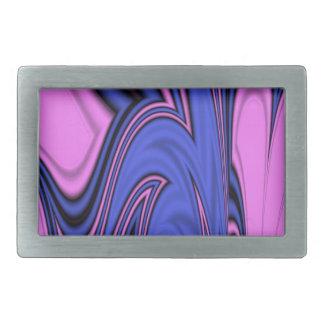Blue and Pink Polar Art Belt Buckle