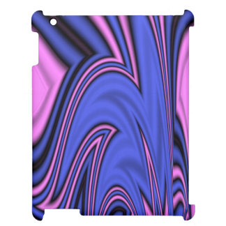 Blue and Pink Polar Art Case For The iPad