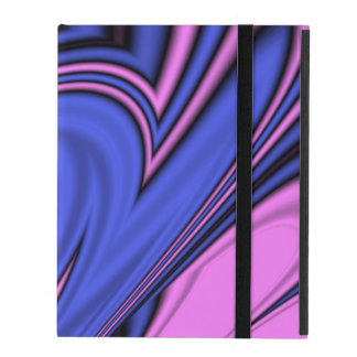 Blue and Pink Polar Art iPad Cover