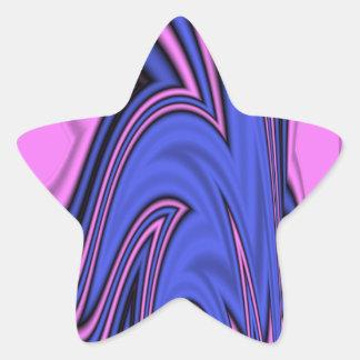 Blue and Pink Polar Art Star Sticker