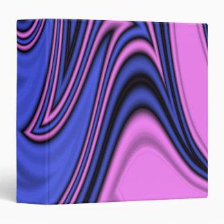 Blue and Pink Polar Art Vinyl Binders