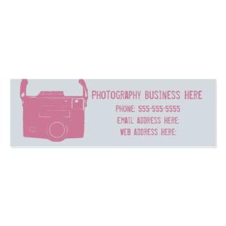 Blue and Pink Retro Film Camera Business Card
