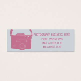 Blue and Pink Retro Film Camera Business Card