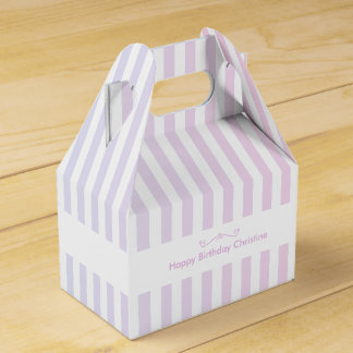 Blue and Pink Stripes Favor Box