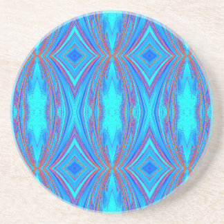 Blue And Pink Texture Coaster