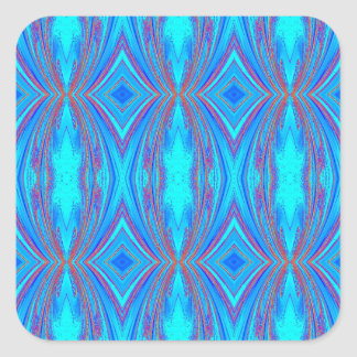 Blue And Pink Texture Square Sticker