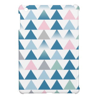 blue and pink triangles iPad mini covers