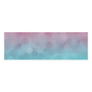 Blue and Pink Vintage Design Double-Sided Mini Business Cards (Pack Of 20)