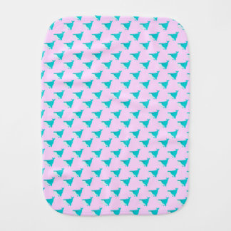 Blue and Pink Whales Burp Cloth