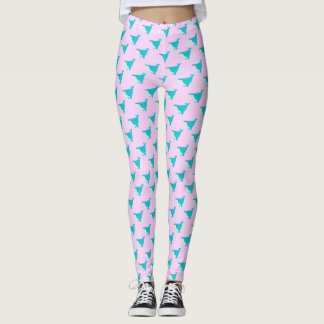 Blue and Pink Whales Leggings