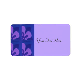 Blue And Purple Abstract Flower Pattern