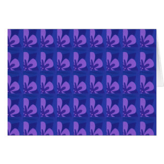 Blue And Purple Abstract Flower Pattern Greeting Card