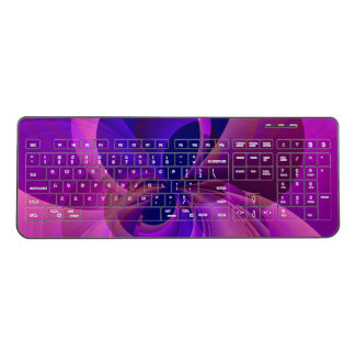 Blue and Purple Abstract Infinity Wireless Keyboard
