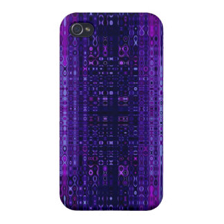 Blue and Purple Abstract pattern iPhone 4 Case