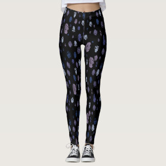 Blue and Purple Abstract Raindrops Leggings