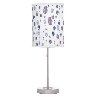Blue and Purple Abstract Raindrops Table Lamp