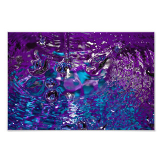 Blue and Purple Abstract Water Photograph