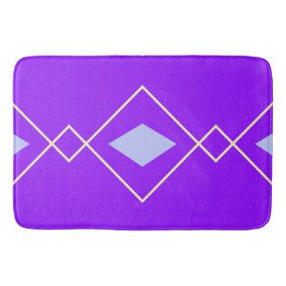 blue and purple argyle bath mat