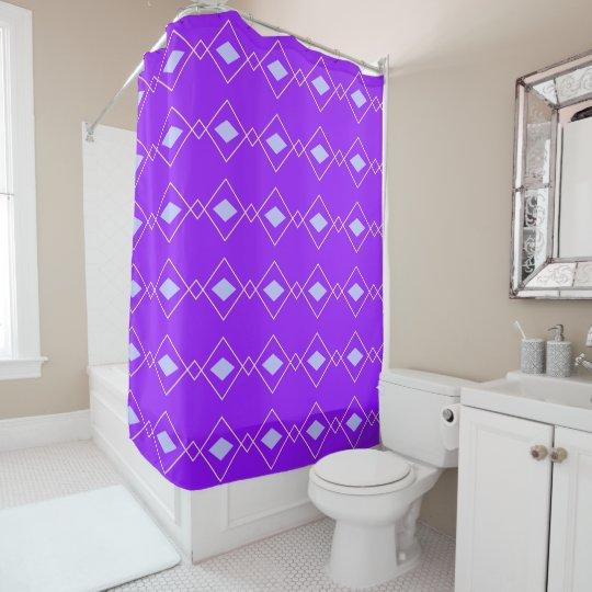 Blue and Purple Argyle shower curtain