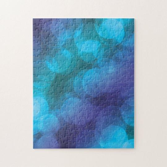 BLUE and PURPLE  bubbles Jigsaw Puzzle