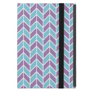 Blue and Purple Chevron Pattern iPad Mini Cases
