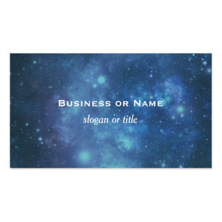 Blue and Purple Cosmic Space Image Pack Of Standard Business Cards